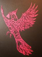 Cardinal PAPER CUTTING by Snowboardleopard