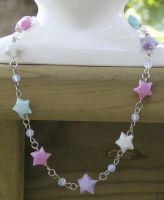 Origami Star Necklace by LadyDragonKia