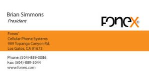 FONEX Business Card by Chaindive