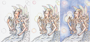 Awaking fairy pencil layers by Verbeley