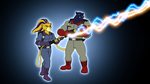 Palladon and Cassie as Ghostbusters by BennytheBeast