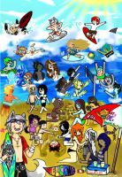 Beach party with Rawol collab FINISHED!!! by YAL1606