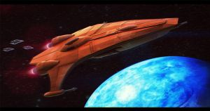 Star Wars Mon Calamari Gunboat 3D by AdamKop