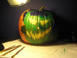 2010 Halloween painted Pumpkin by 11rnolson