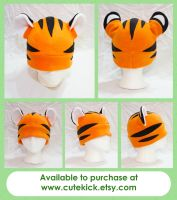 Semi-Reaslitic Tiger Hat by cutekick