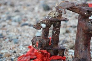 Rusted on the beach by O-Kane