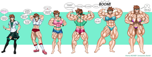 Shiyomi, the ever growing muscle girl! by MGChaser