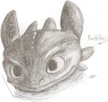 Toothless by HunterTheShadow