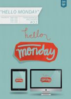 Freebie: TCWP #01 Hello Monday by eugeniaclara