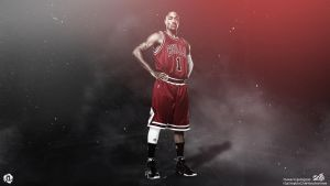 Derrick Rose Wallpaper by AlpGraphic13