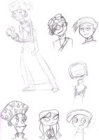 Psychonauts sketches by AngelHuskune
