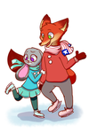 Iceskating by Cookie-and-her-foxes