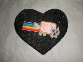 Nyan Cat Hair Clip by Oriana-X-Myst