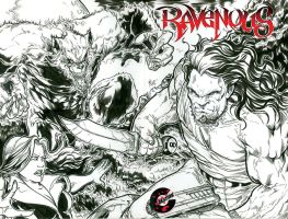 Ravenous ketch Cover Black and White001 email by ElvinHernandez