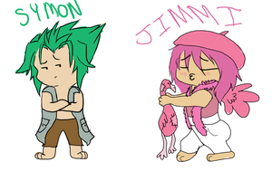 Symon and Jimmi by foreverneon