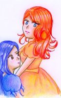 Colored Princess Dawn and Eve by PanMarlon