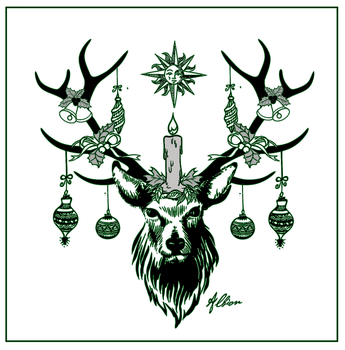 Yule Stag by The-Pagan-Gallery