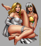 Rogue and Emma Frost by Salamandra88