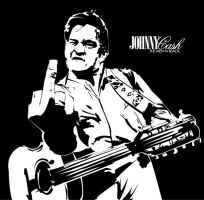 Johnny Cash - The Men In Black by luh-yart