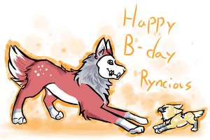 Happy Birthday Ryncious by snowpups123