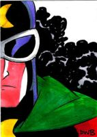 Dr. Mid-Nite Sketchcard by thecheckeredman