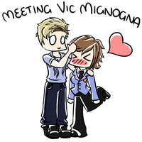 Meeting Vic Mignogna :3 by purplegoldfish14