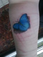 Butterfly Tattoo by YamisGuardianAngel