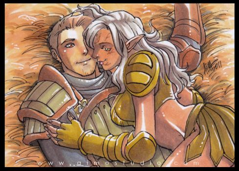 PSC - Alistair and Mahariel by aimo