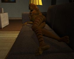 Tigra in loft 09 by MorganCygnus