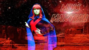 Miss Martian Cosplay wp by SWFan1977