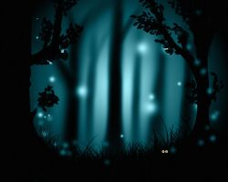 night forest by Tumana-stock