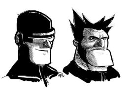 cyclops and wolverine by MPdigitalART