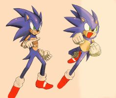 Sonic MvC2 Style by ss2sonic