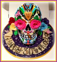 Phoebe's Birthday Skull by gertygetsgangster