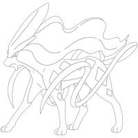 Suicune Lineart by kasanelover