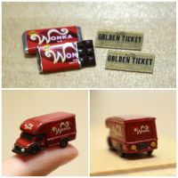 Wonka Bar and Truck by minivenger