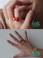 Sailor Moon Bow Ring by KatieKatCW