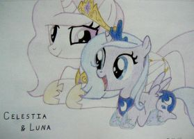 Tia and Woona by moggflunky