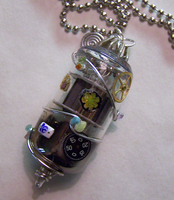 Vacuum Tube Steampunk Pendant by mymysticgems