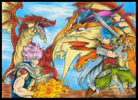 Dragon Duel by AmyJusta
