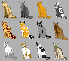 OPEN - Huge Warrior Cat Batch - 3 points each by Gingerpatch-59