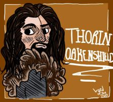 The Hobbit Fanart- Thorin by LordOfThePugss