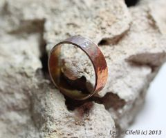 Hammered Copper Ring by Ironmountain01