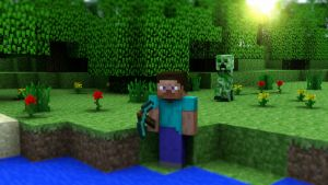 Cinema 4D -- Minecraft wallpaper II by SMOKEYoriginalHD