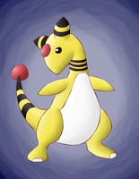 Pokeswap Ampharos by TouchFuzzyGetDizzy