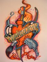 A mix of art and tattoo by chrisxart