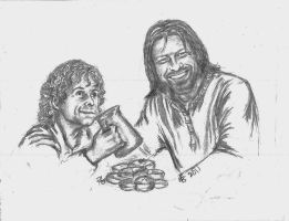 Elevenses - Boromir and Pippin by rstrider9