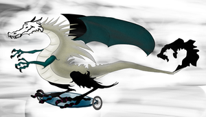 Hoverboard dragon by sii-kei