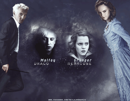 Draco Malfoy and Hermione Granger by AkilajoGraphic