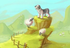Guardian of the Sheep by kiki-doodle